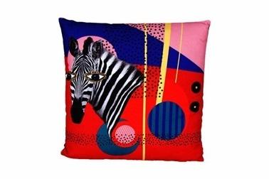 Porland Wild Life Zebra Yastık 45*45 Renkli